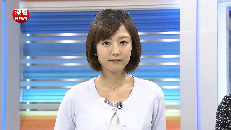 深層ニュースに出演しているストレートヘアーの滝菜月