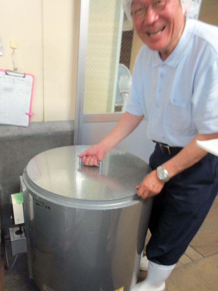 糀の発酵タンク