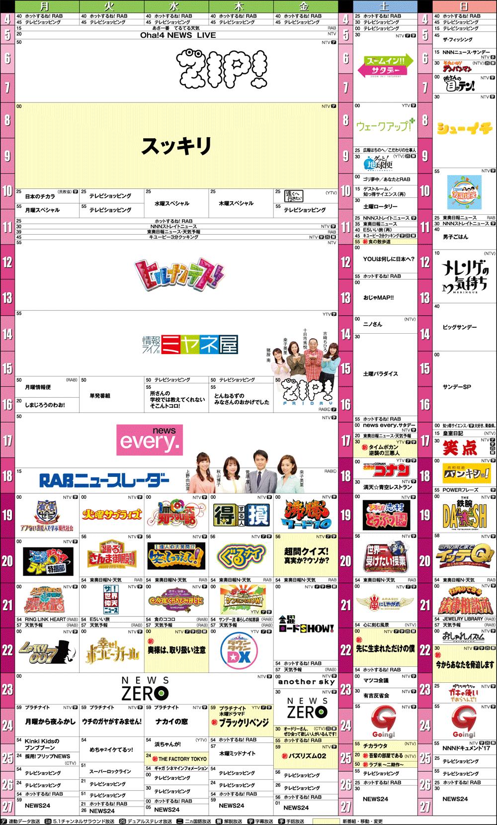 番組表(2K/4K) | BS朝日