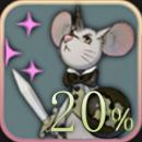 ネズ+20%