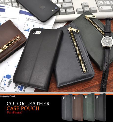 511c6f448b ip7 全4色 チャック付き カラーレザー 手帳型 卓上スタンドケース - iphoneカバー スマホケース バンパーwiki