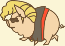 ようとん 大花白豚